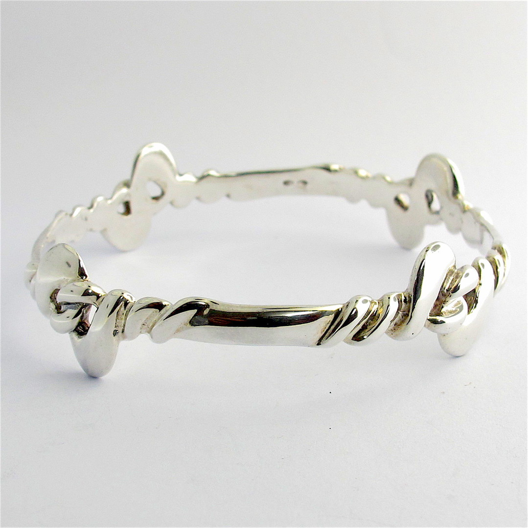 Sterling silver fancy bangle image 0