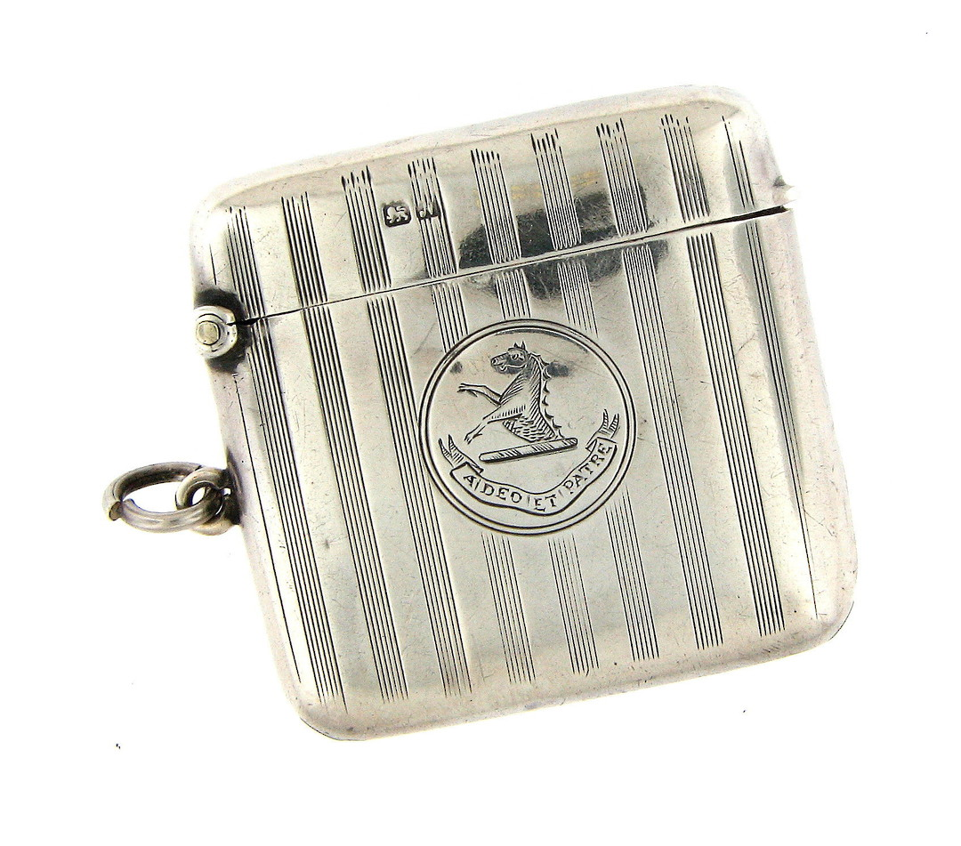 Sterling silver Antique vesta box image 0