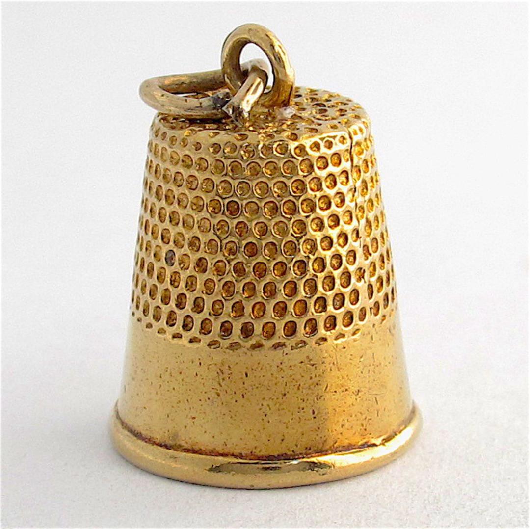 9ct yellow gold thimble charm image 0