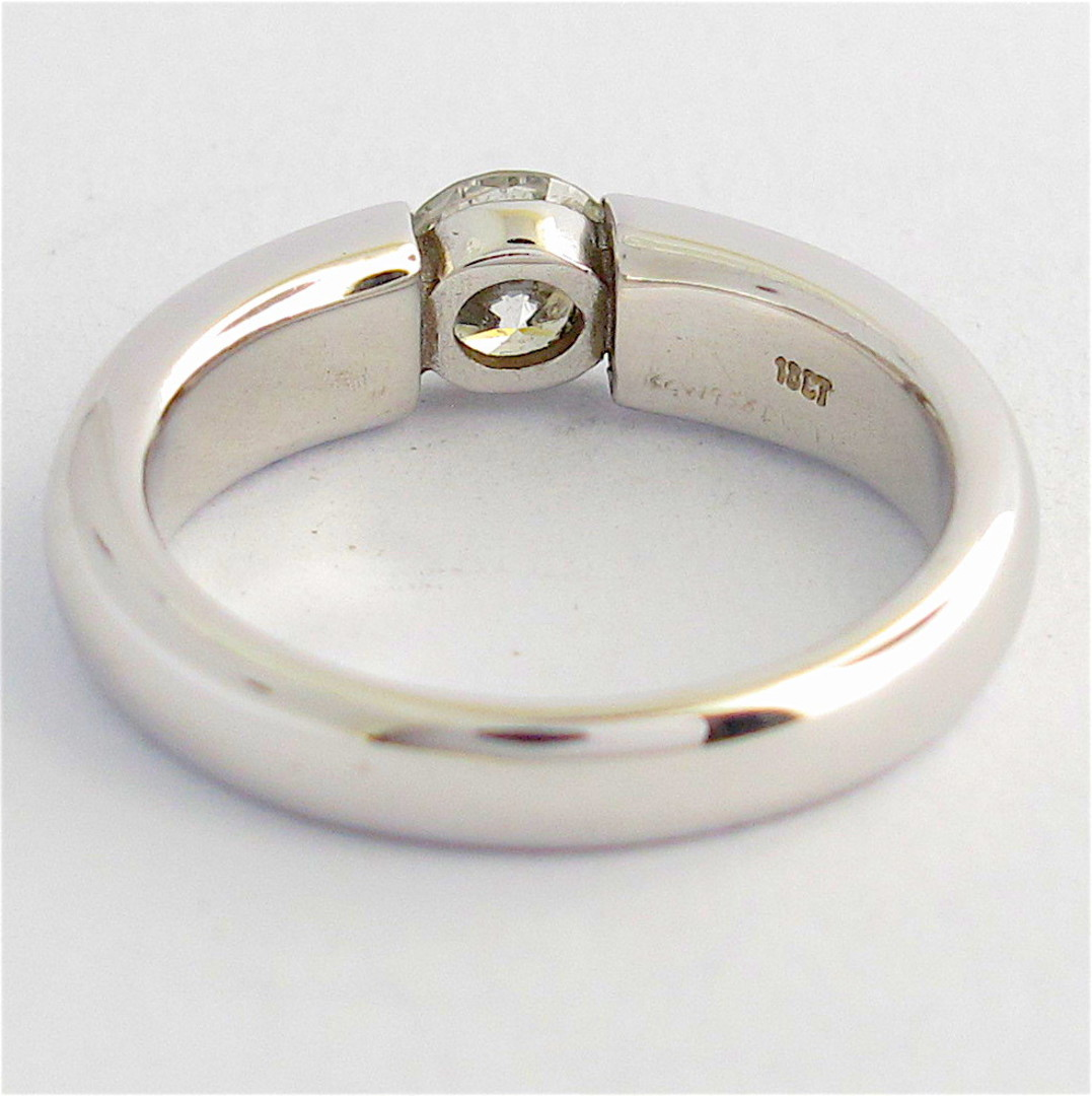 18ct white gold diamond solitaire ring image 1
