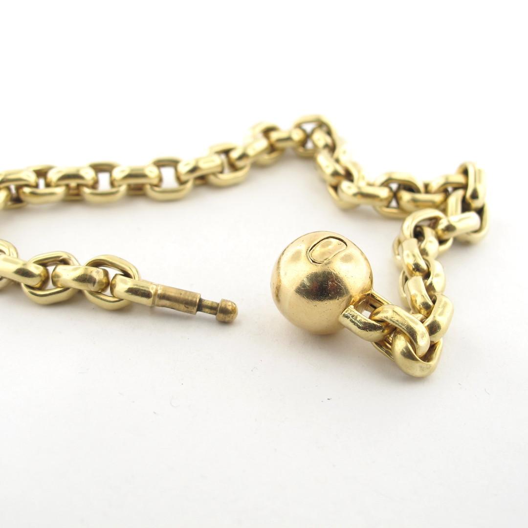 9ct yellow gold oval belcher link bracelet image 1