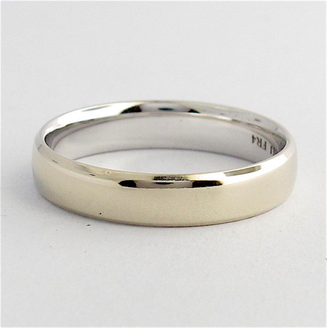 10ct white gold wedding band image 0