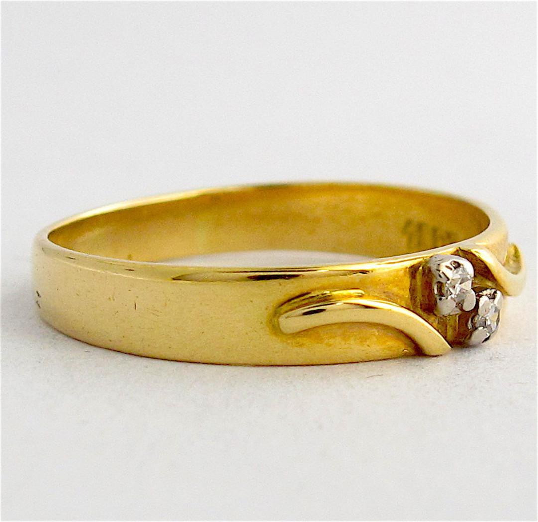 18ct yellow gold fancy diamond set band image 1