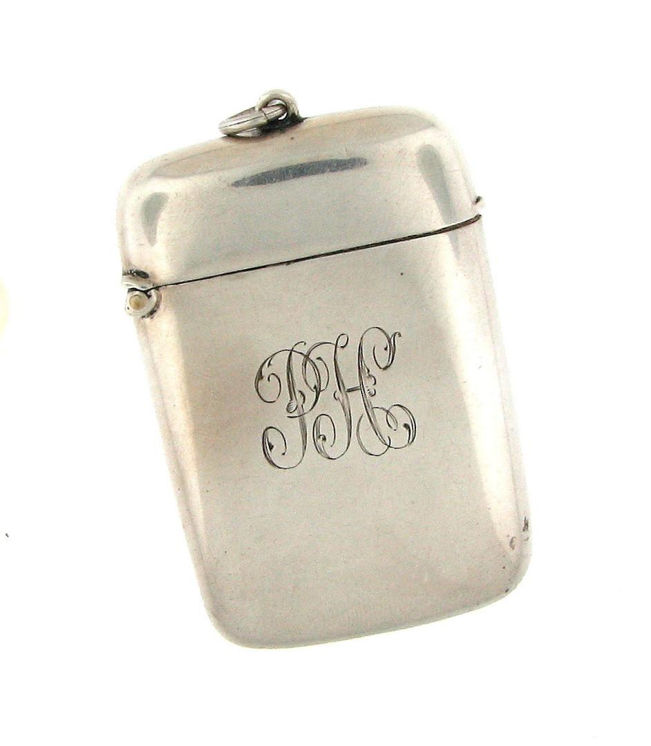 Sterling silver vesta box image 0