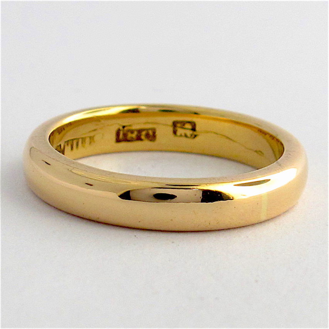 18ct rosey gold vintage band image 0
