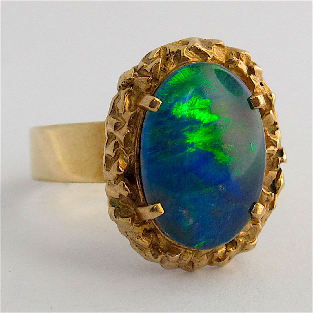 9ct yellow gold opal triplet ring image 0