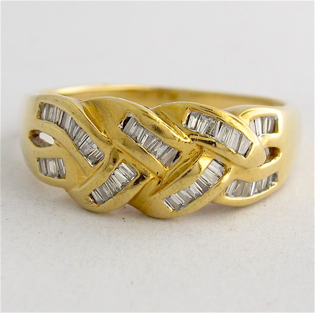 18ct yellow gold diamond set dress ring image 0