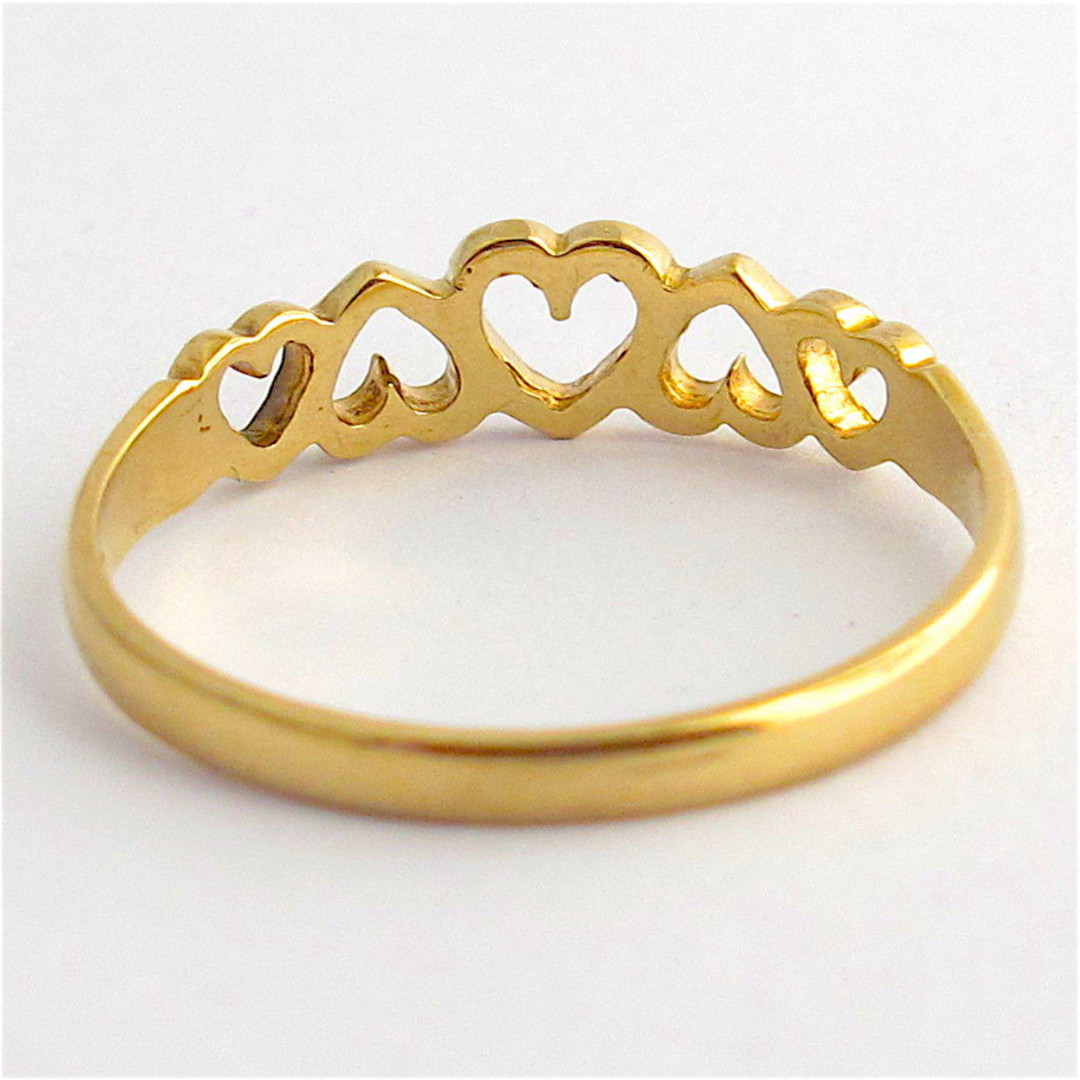 9ct yellow gold heart motif dress ring image 1