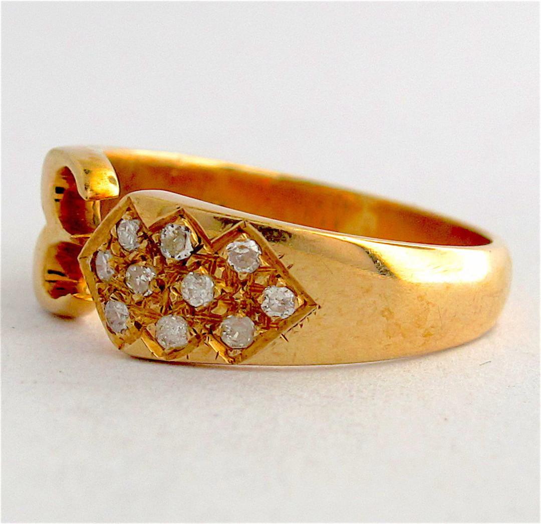 18ct yellow gold diamond set dress ring image 1