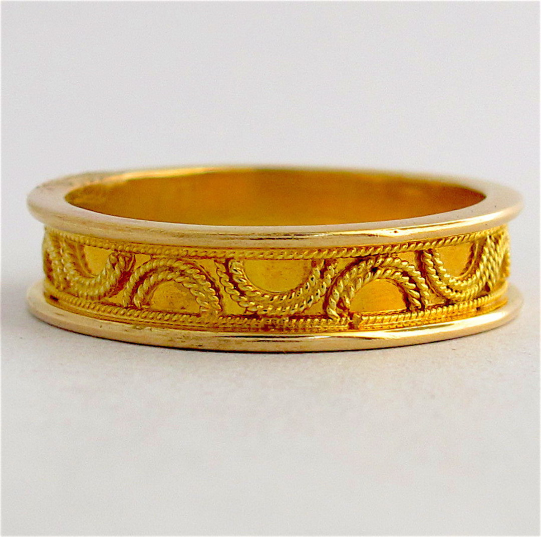 14ct yellow gold fancy dress band image 0