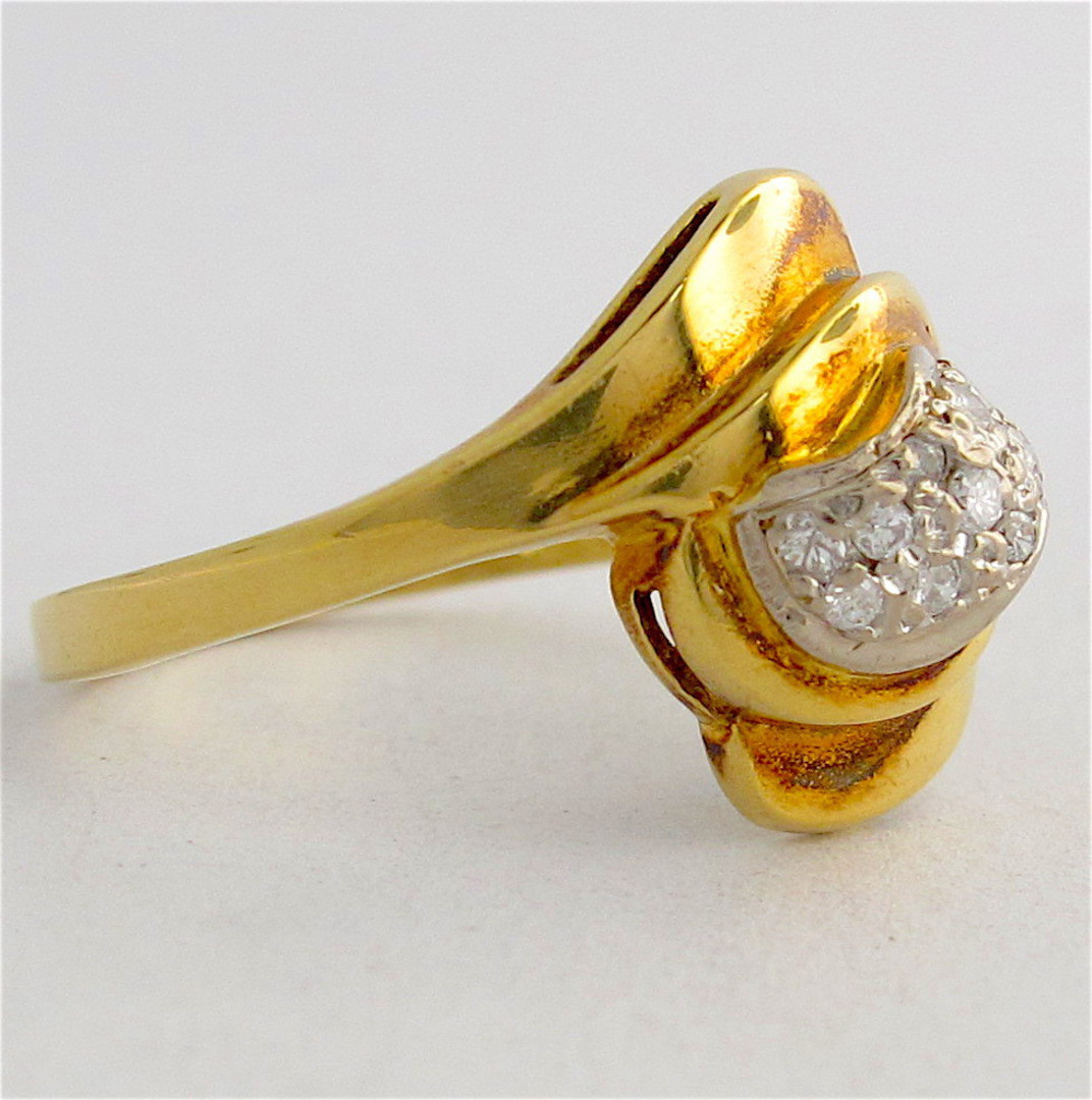 18ct yellow gold diamond dress ring image 1