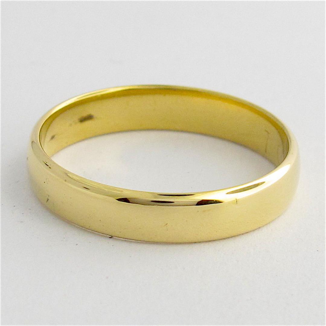 9ct yellow gold band image 0