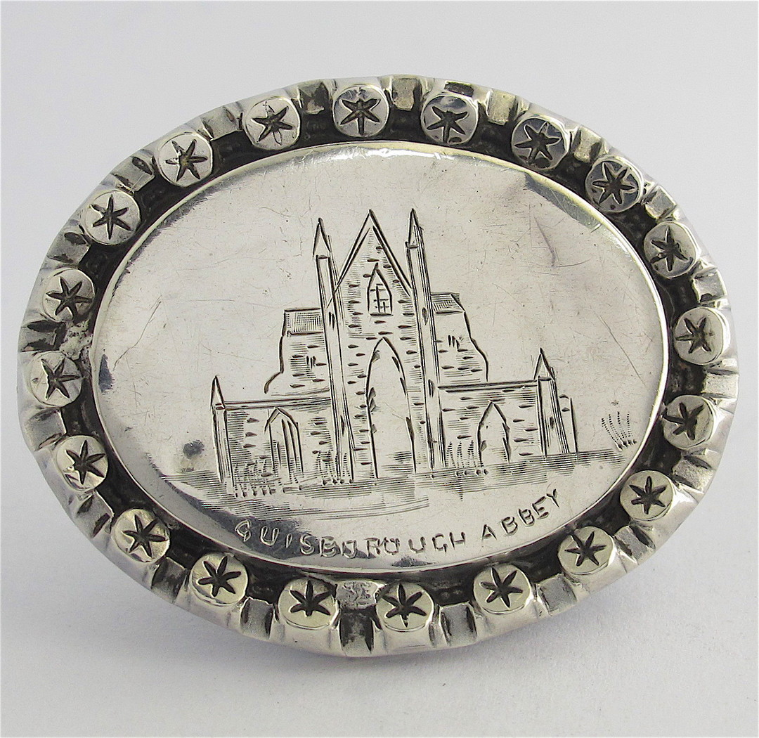 Antique sterling silver brooch image 0