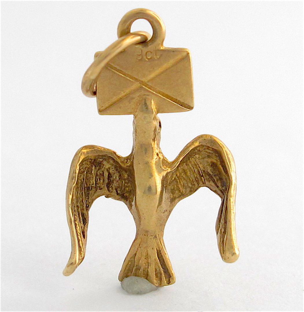 9ct yellow gold Messenger Bird charm image 0