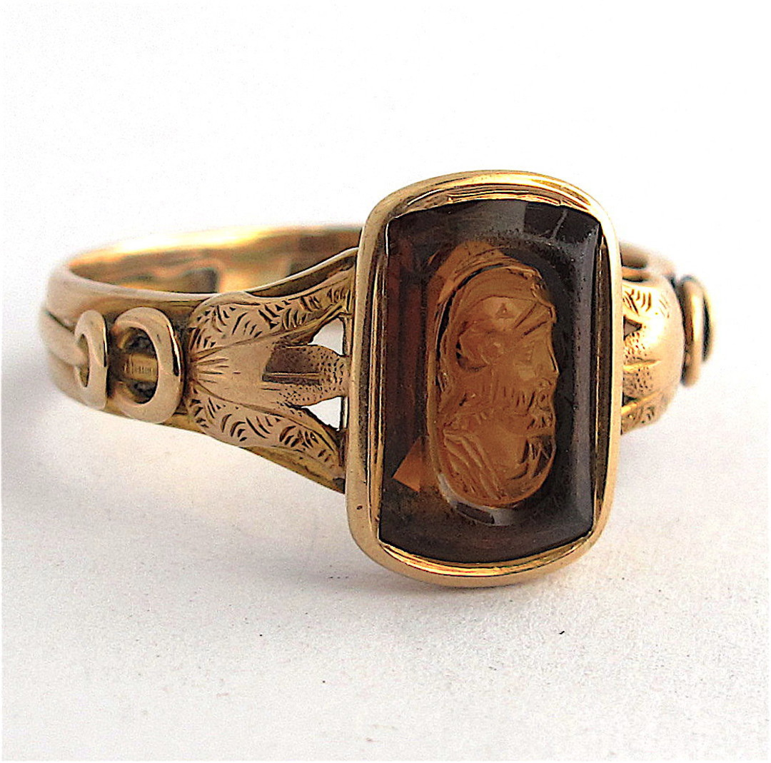 15ct yellow gold antique citrine ring image 0