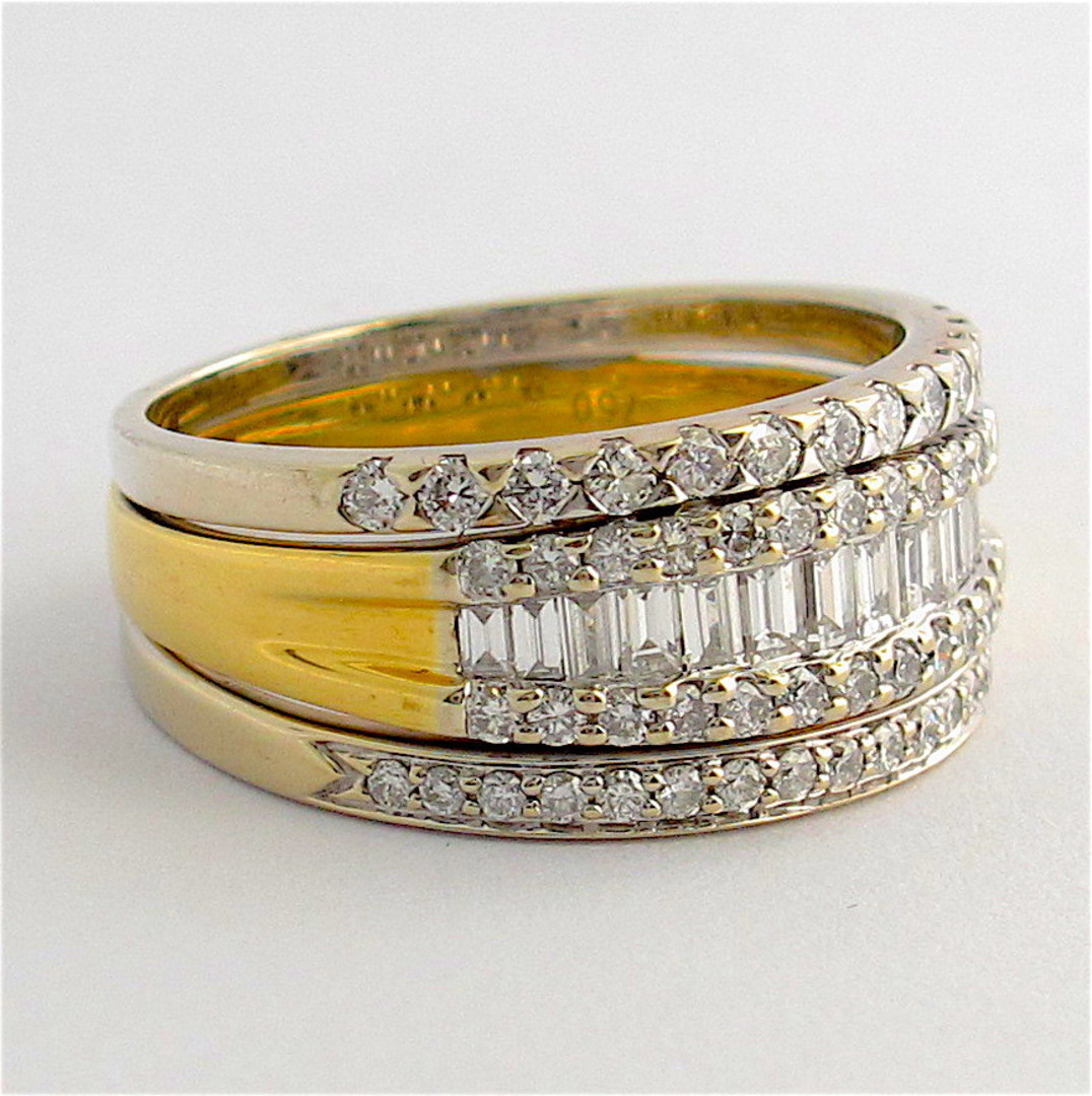18ct yellow and white gold multi diamond style ring image 1