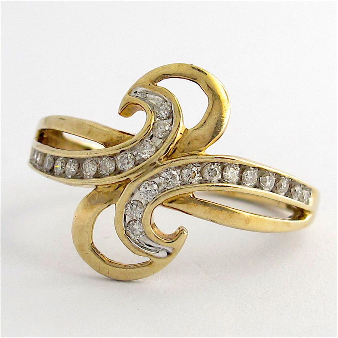 9ct yellow gold diamond dress ring image 0