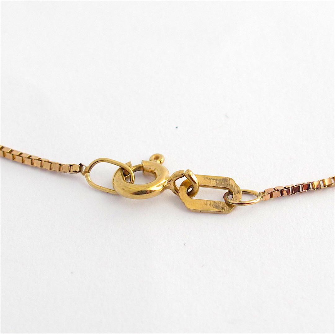 9ct yellow and rose gold antique aquamarine necklace image 2
