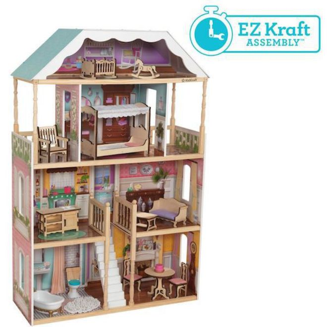 Kidkraft Charlotte Dollhouse - FREE DELIVERY - Pre-order now from our next shipment due here 23rd September image 2