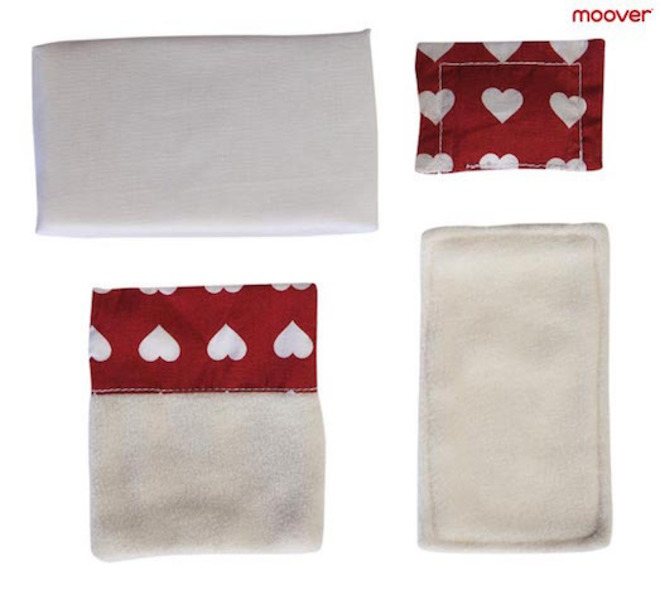 Moover Dolls Pram Bedding Red image 1