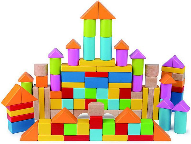 Hape Wonderful Beech Blocks image 0
