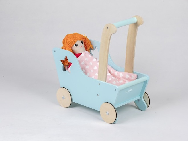 Moover Line Star Pram Aqua - Dispatched from NZ supplier in 1 - 2 days time image 1