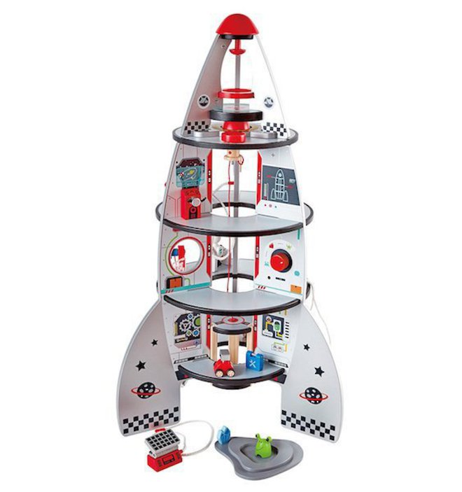 Hape Four Stage Rocket Ship - FREE DELIVERY image 0