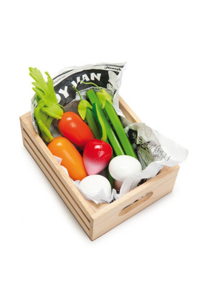 Le Toy Van Harvest Vegetables Market Crate image 0
