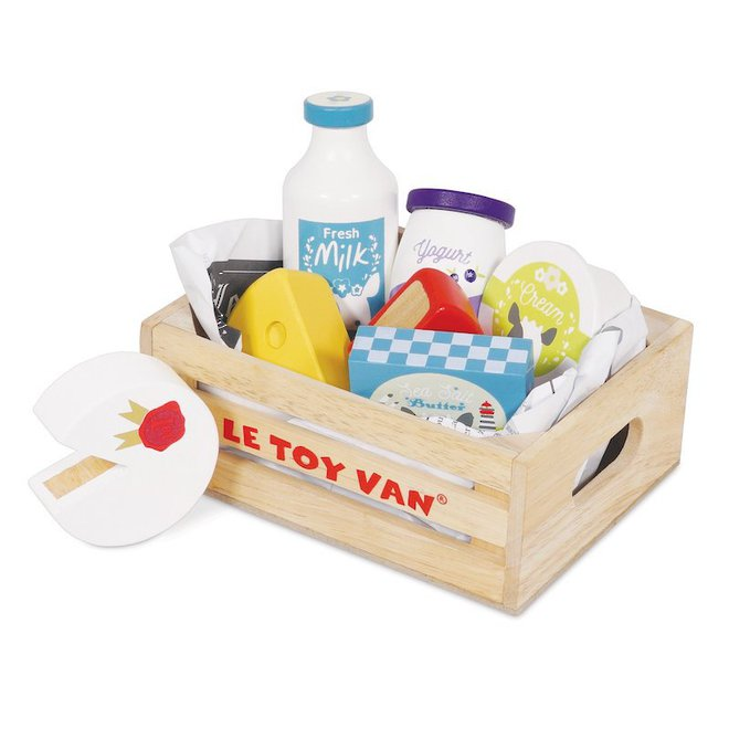 Le Toy Van Cheese & Dairy Market Crate - NEW image 0