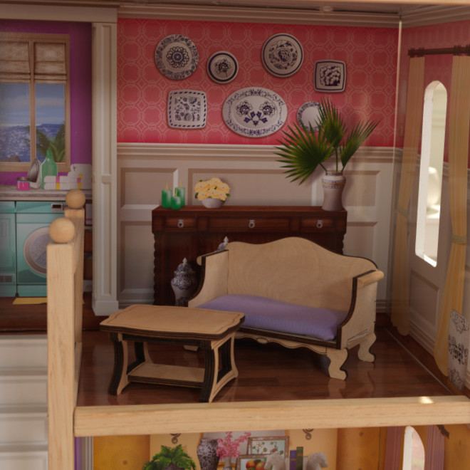Kidkraft Charlotte Dollhouse - FREE DELIVERY - Pre-order now from our next shipment due here 23rd September image 8