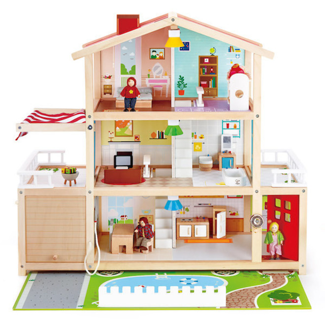 Hape Doll Family Mansion - FREE DELIVERY image 0