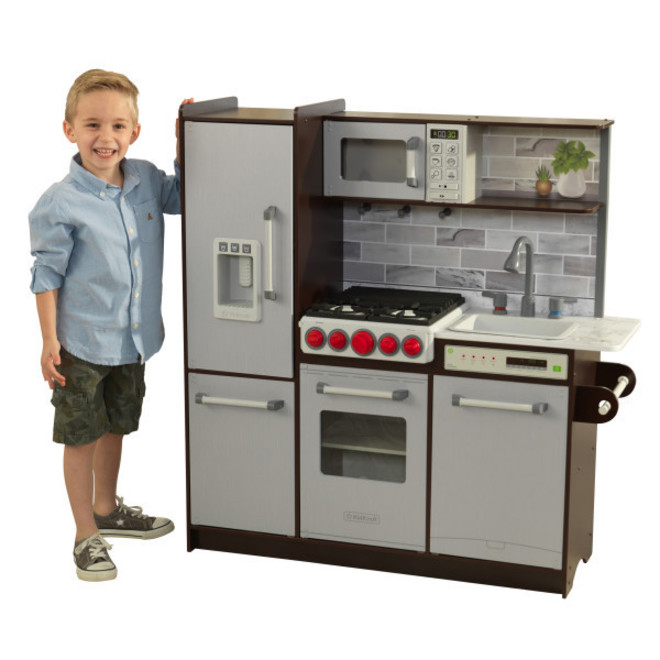 KidKraft Uptown Elite Espresso Play Kitchen - FREE DELIVERY - Pre Orders accepted from our shipment due end October image 0