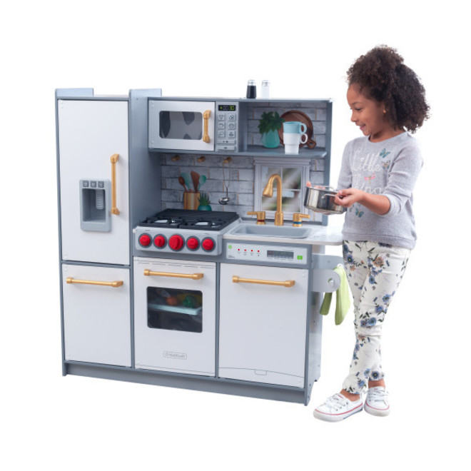 KidKraft Uptown Elite White Play Kitchen - FREE DELIVERY - Pre-order now from our next shipment due here early November image 2