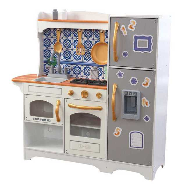KidKraft Mosaic Magnetic Kitchen - Free NZ Delivery - Pre-order now from our shipment due early May image 1