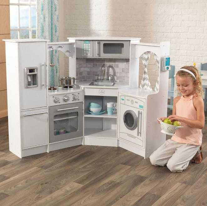KidKraft Ultimate Corner Kitchen with Lights & Sounds White - FREE DELIVERY image 0