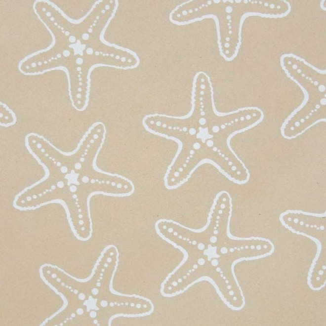 Free Gift Wrapping in Natural Starfish paper image 0