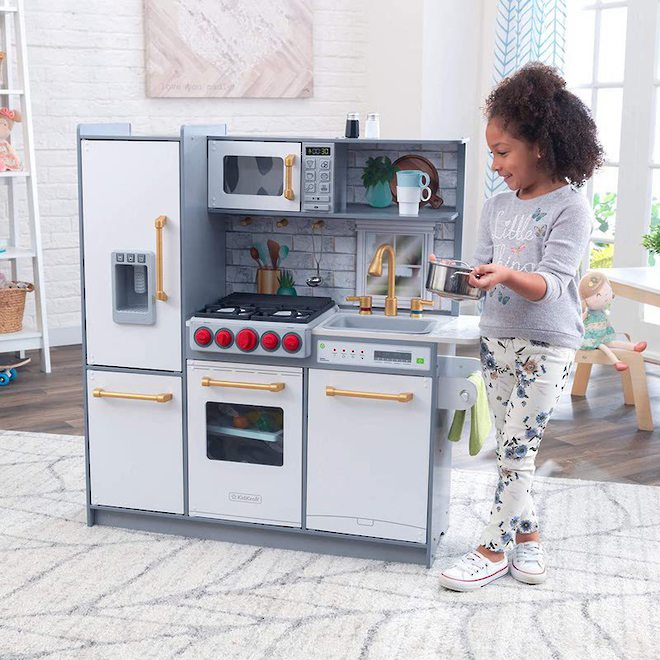 KidKraft Uptown Elite White Play Kitchen - FREE DELIVERY image 3