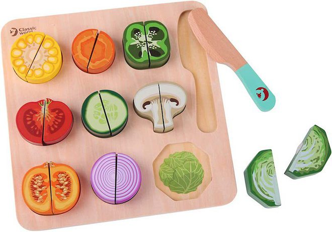 Classic World Cutting Vegetables Puzzle image 0