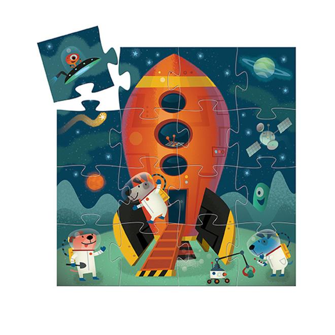 Djeco Spaceship Puzzle image 1