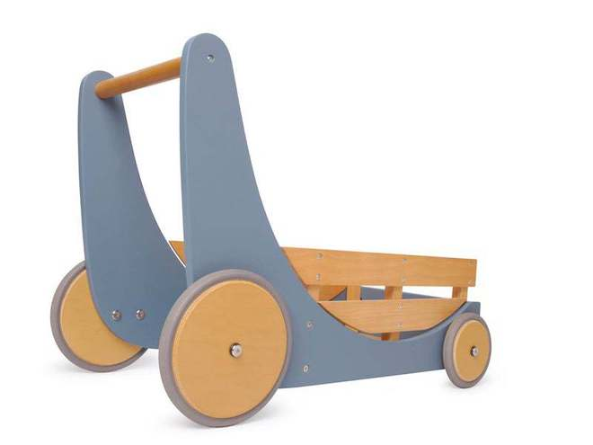 Kinderfeets Cargo Baby Walker Slate Blue - FREE DELIVERY - Ships direct from our NZ supplier in 1 - 2 days image 1