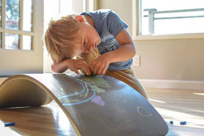 Kinderfeets KinderBoard Chalkboard - FREE DELIVERY - Ships direct from NZ supplier in 1 - 2 days time image 2
