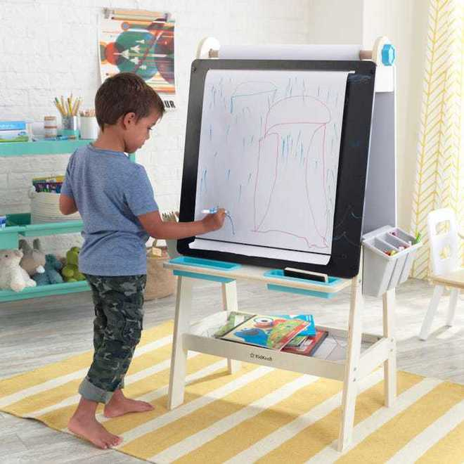 KidKraft Create N Play Art Easel - FREE NZ Delivery - Pre-order now from our shipment due to arrive here 30th June image 1