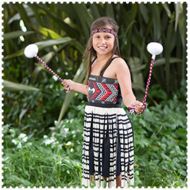 Maori Girl Costume 3XLg image 0