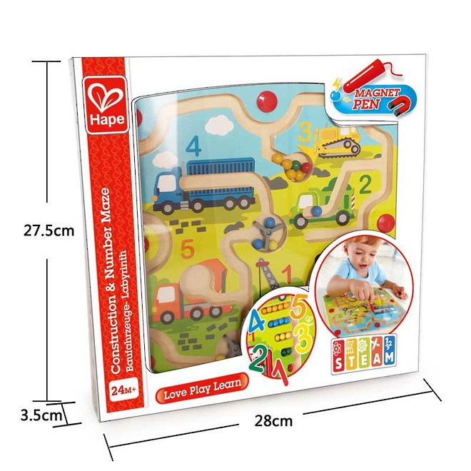 Hape Construction & Number Maze image 3