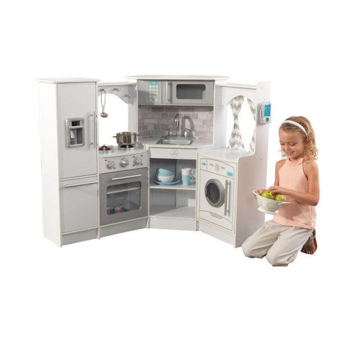 KidKraft Ultimate Corner Kitchen with Lights & Sounds White - FREE DELIVERY image 5