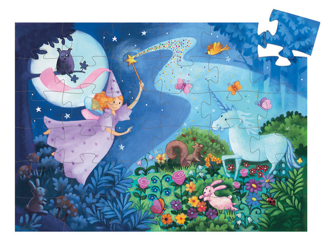 Djeco The Fairy and the Unicorn puzzle image 1