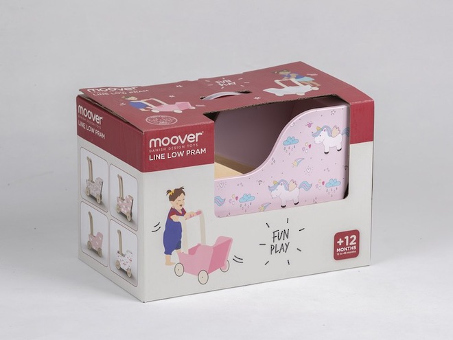 Moover Line Pram Pink Unicorn - Dispatched from NZ supplier in 1 - 2 days time image 1