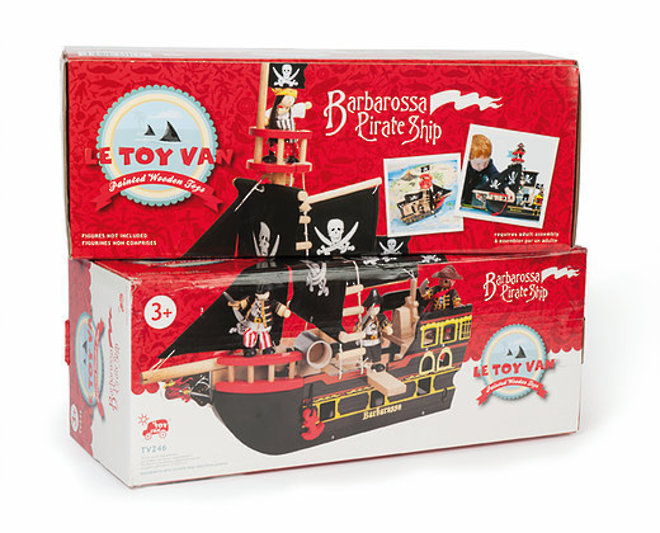 Le Toy Van Barbarossa Pirate Ship - FREE DELIVERY image 5