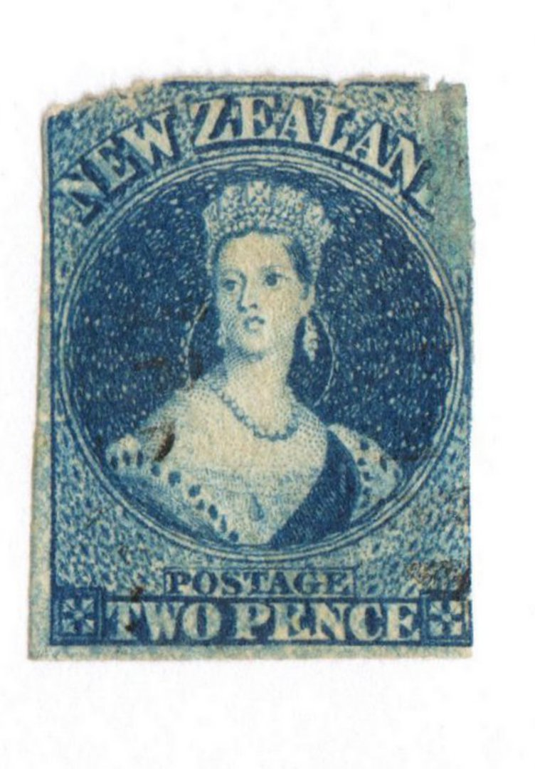 NEW ZEALAND 1862 Full Face Queen 2d Deep Blue. Poor copy. - 71688 - Used image 0