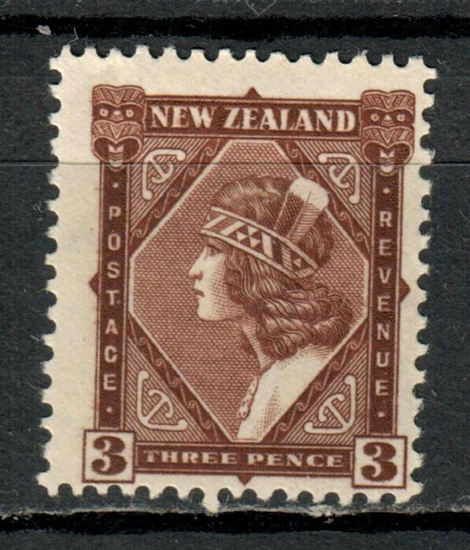 NEW ZEALAND 1935 Pictorial 3d Dark Chocolate. Very lightly hinged. - 4196 - LHM image 0